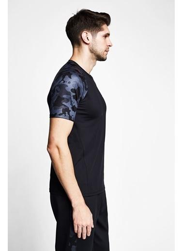Lescon Siyah Erkek Kısa Kollu T-Shirt 21B-1156 Siyah